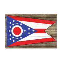 Ohio State Flag Wood Sign Rustic Wall Décor Gift 12x18 B3-12180051030