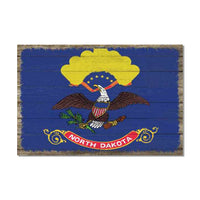 North Dakota State Flag Wood Sign Rustic Wall Décor Gift 12x18 B3-12180051031