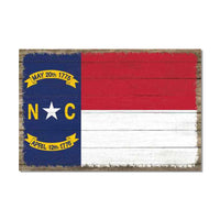 North Carolina State Flag Wood Sign Rustic Wall Décor Gift 12x18 B3-12180051032