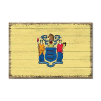 New Jersey State Flag Wood Sign Rustic Wall Décor Gift 12x18 B3-12180051035
