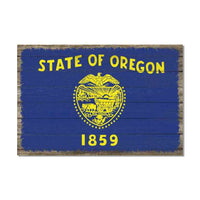 Oregon State Flag Wood Sign Rustic Wall Décor Gift 12x18 B3-12180051037