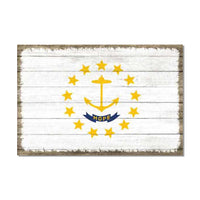 Rhode Island State Flag Wood Sign Rustic Wall Décor Gift 12x18 B3-12180051039