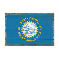 South Dakota State Flag Wood Sign Rustic Wall Décor Gift 12x18 B3-12180051041