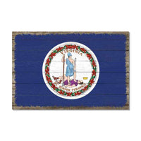 Virginia State Flag Wood Sign Rustic Wall Décor Gift 12x18 B3-12180051046