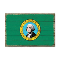 Washington State Flag Wood Sign Rustic Wall Décor Gift 12x18 B3-12180051048