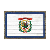 West Virginia State Flag Wood Sign Rustic Wall Décor Gift 12x18 B3-12180051049