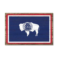 Wyoming State Flag Wood Sign Rustic Wall Décor Gift 12x18 B3-12180051051