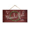 "It's a Wonderful Life Wood Christmas Sign 5""x10"" SP-05101001007"