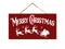 Merry Christmas Hanging Wood Signs 5x10 SP-05100002001