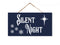 Silent Night Wood Hanging Christmas Sign SP-05100002002