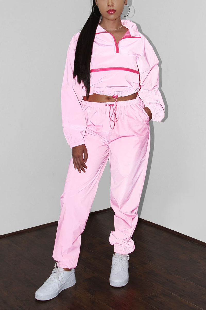 The Reflective Tracksuit - Hot Pink