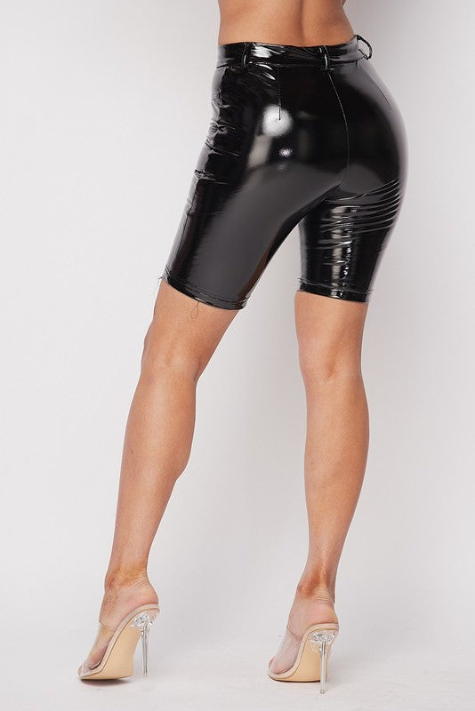 The Latex Biker Short