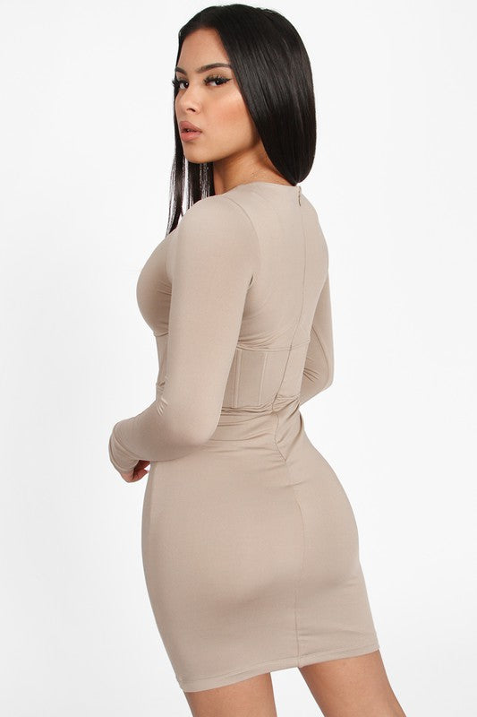 The Kehlani Corset Mini Dress