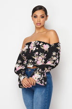 The Stay Cute Off The Shoulder Crop Top