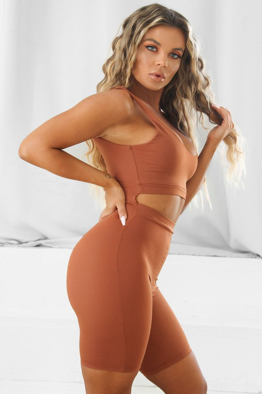 The Brielle Romper - Caramel (PRE-ORDER)