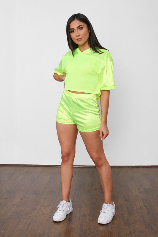 On The Courts Short Set - Neon