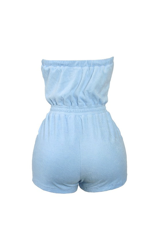 Terry Romper - Baby Blue