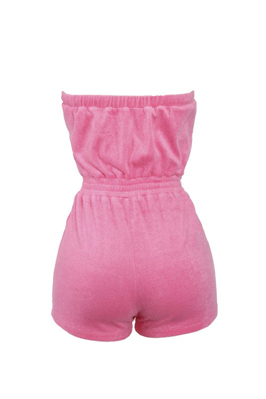 The Terry Romper - Pink