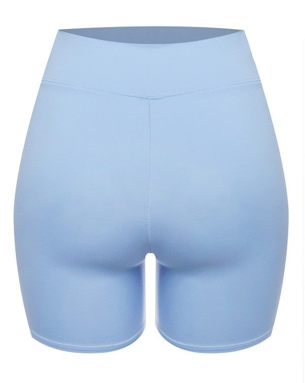 The Double Layered Biker Short - Blue