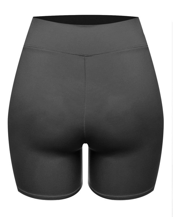 The Double Layered Biker Short - Black