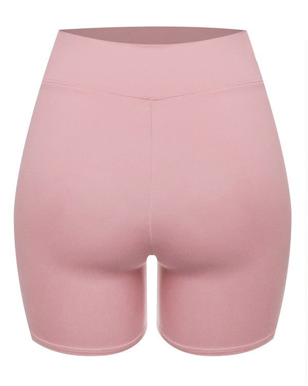 The Double Layered Biker Short - Mauve