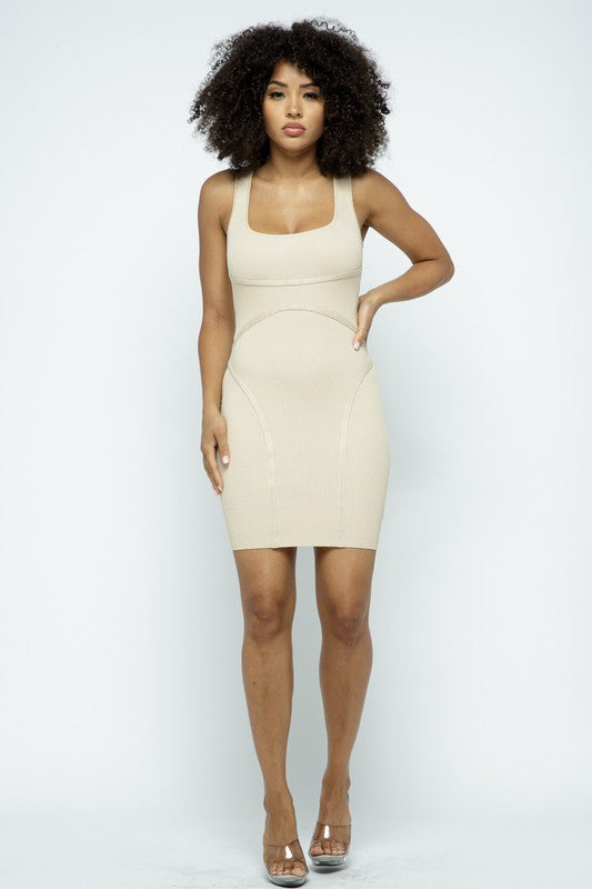 The Contour Dress - Taupe