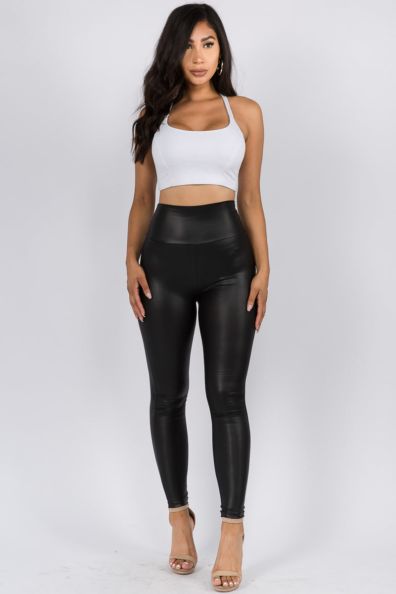 The Faux leather High Rise Leggings