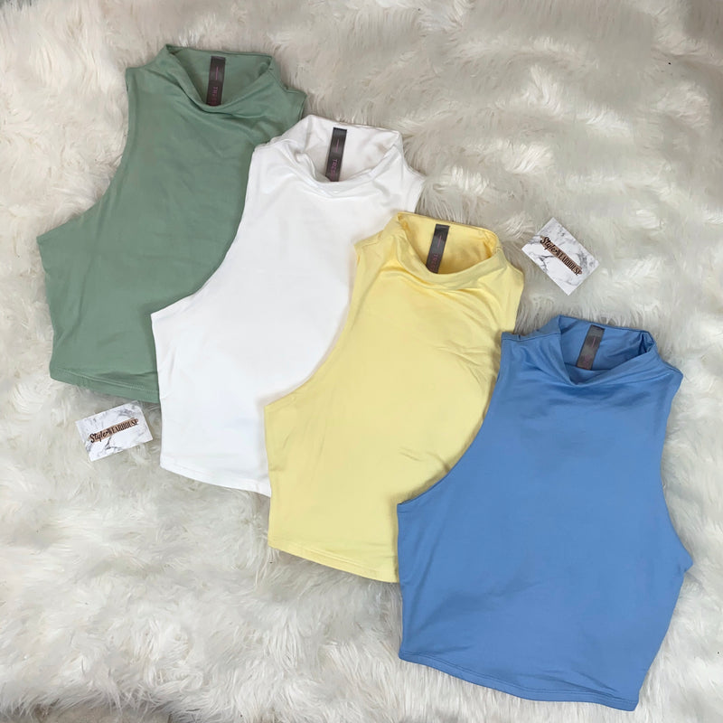 The Mock Neck Double Layered Crop Top