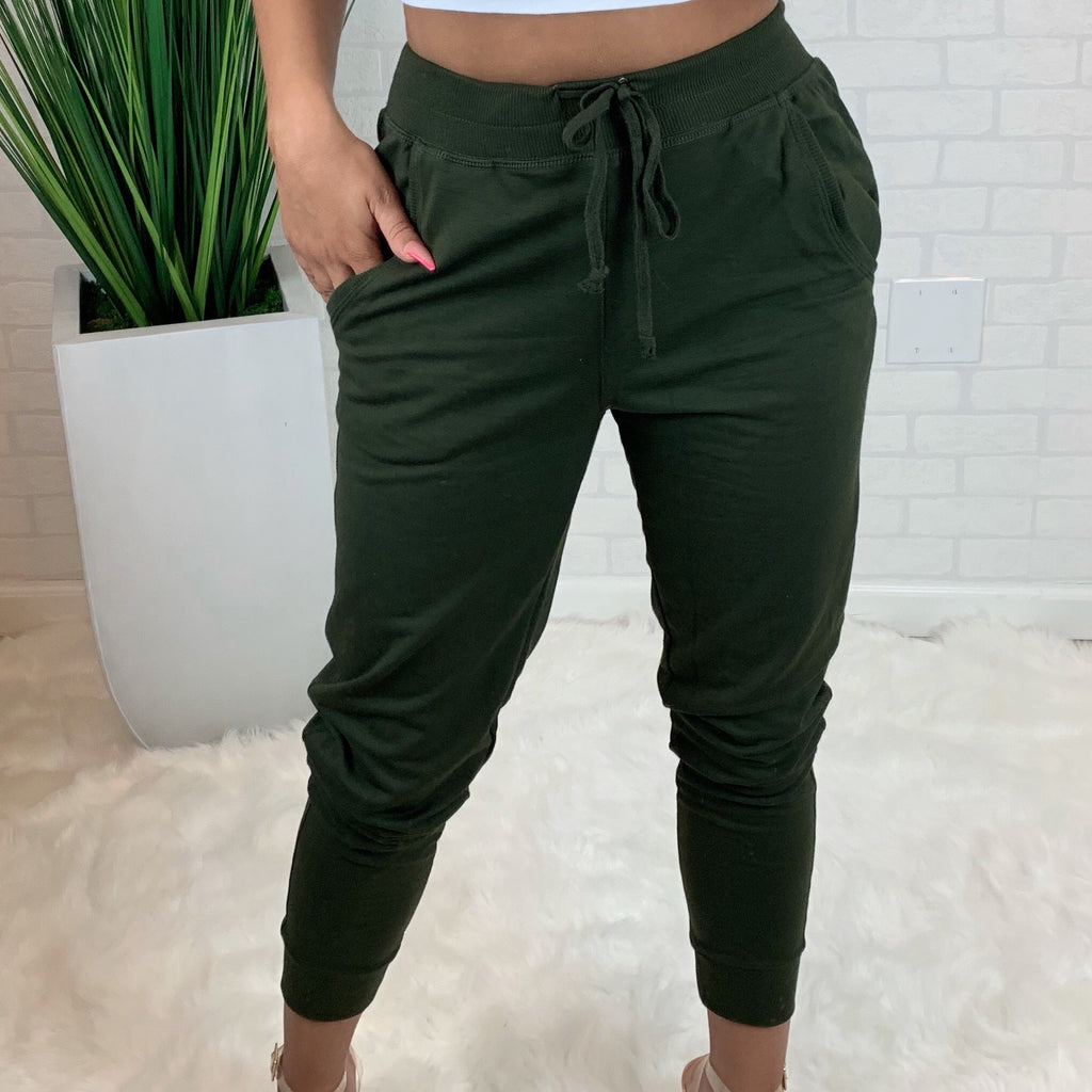 High Rise Jogger - Olive