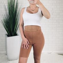 High Rise Biker Short - Camel