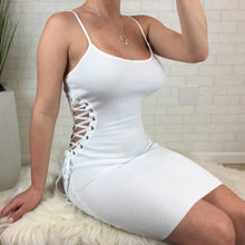 Side Cut Out Cami Dress - White