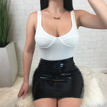 Fitted Latex Mini Skirt