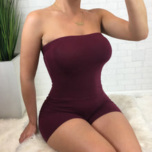 Tube Romper - Burgundy