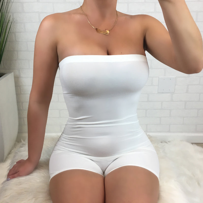 Tube Romper - White