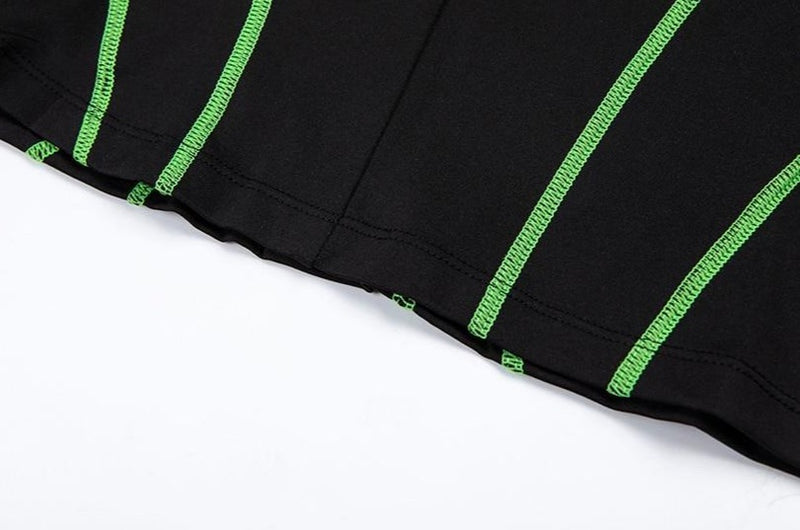 The Neon Lined Zip Up Mini