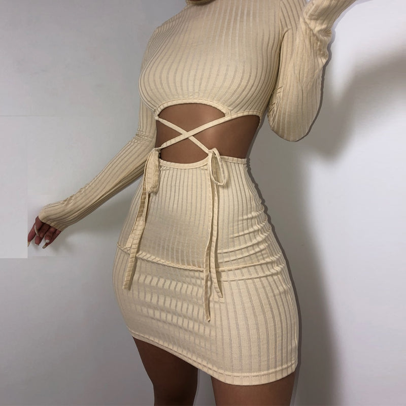 The Front Tie Mini Dress