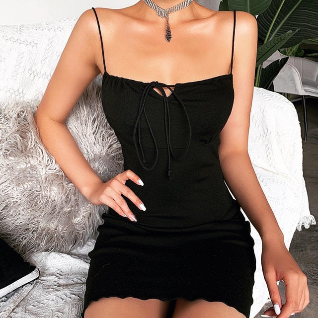 The Front Tie Babydoll Cami Dress
