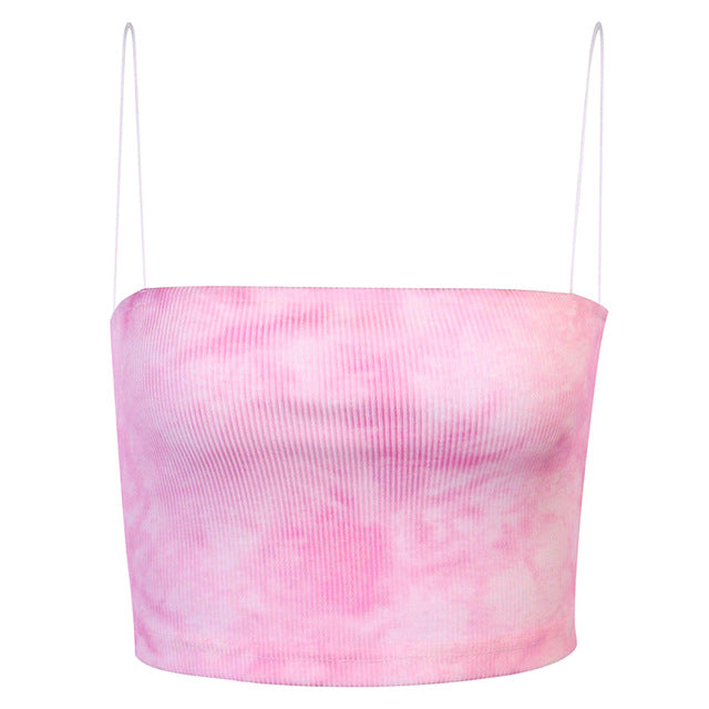 The Baby Pink Tie Dye Top