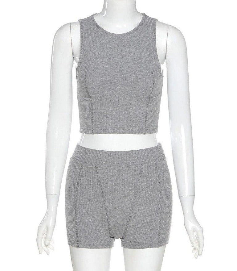 The Leah Knit Short Set
