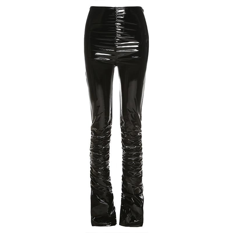 The Stacked Faux Leather Pencil Pants