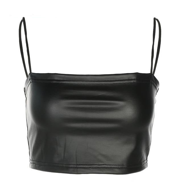 The Faux Leather Cami