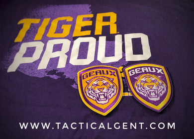 GEAUX TIGERS Patch 2-Pack