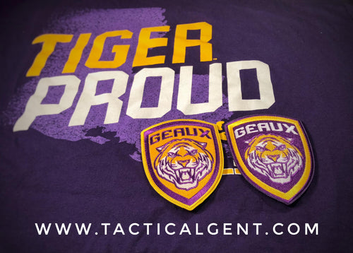 GEAUX TIGERS Morale Patch 2-Pack