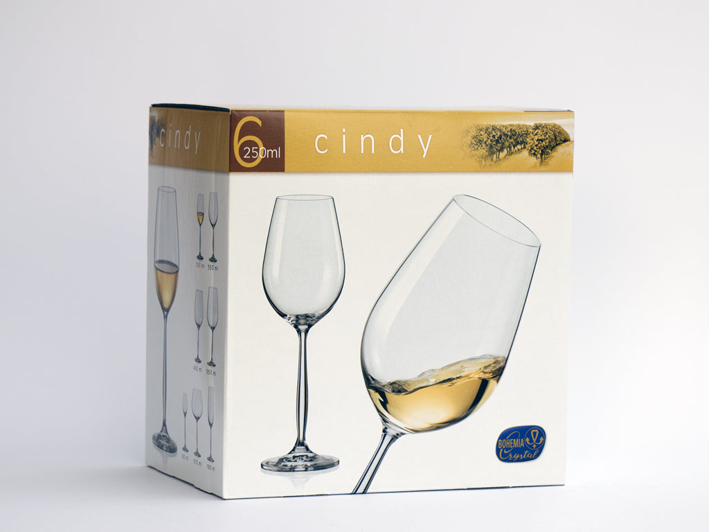 Cindy white wine glasses box