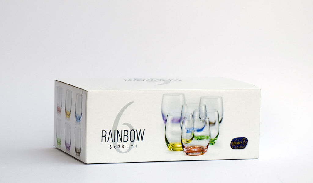 Rainbow glass set box
