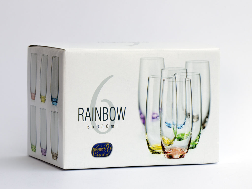 Rainbow color crystal glass box