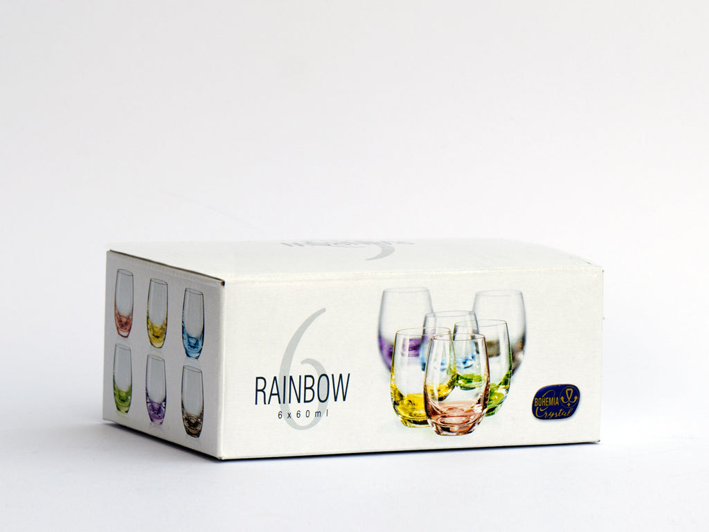 Rainbow shot glass box