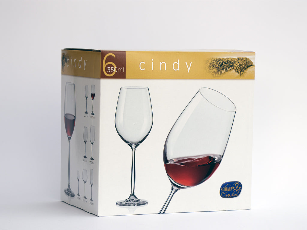 Cindy red wine glasses box