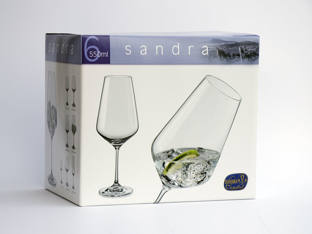 Sandra red wine glasses box