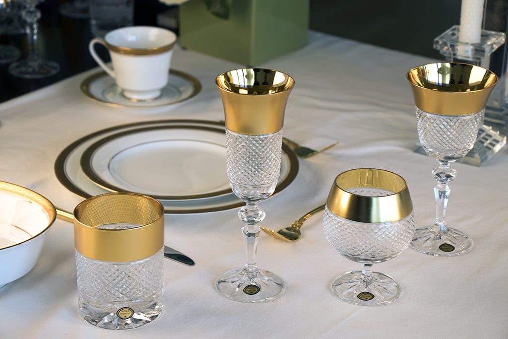 Exclusive Gold Decor Brandy Glass